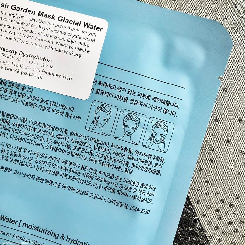 Skin79 Glacial Water maska do twarzy maschera viso