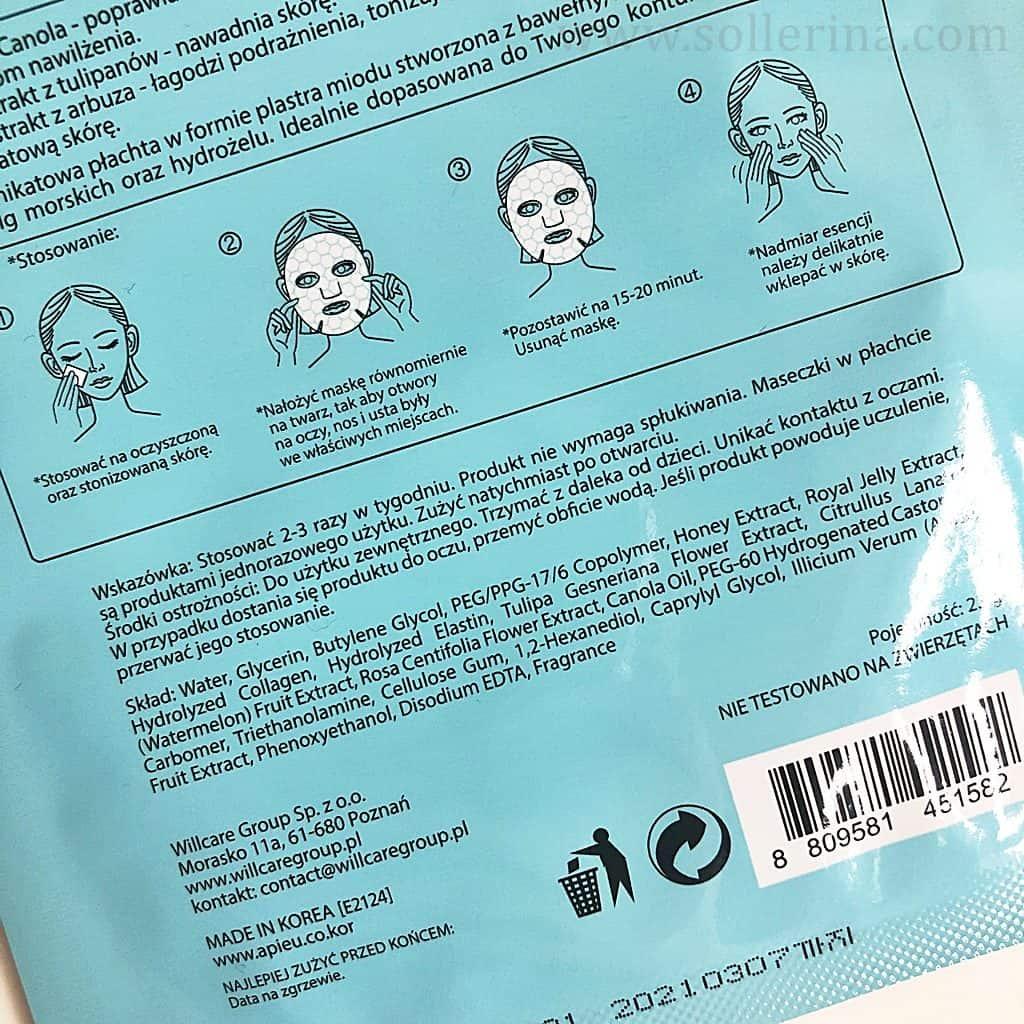 A'pieu maska w płachcie maschera in tessuto
