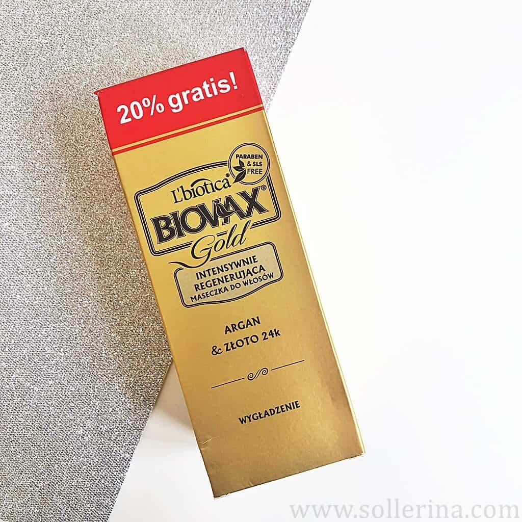 L'Biotica – Biovax Gold – Intensywnie regenerująca maseczka do włosów