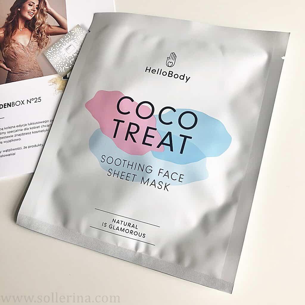 Hello Body – Coco Treat – kojąca maska do twarzy