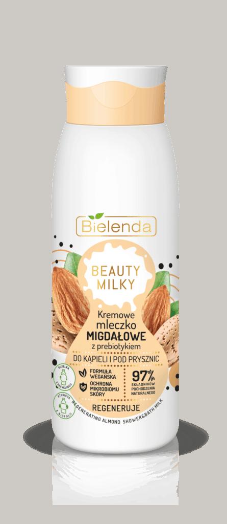 Beauty Milky – kremowe mleczko migdałowe z prebiotykiem – do kąpieli i pod prysznic