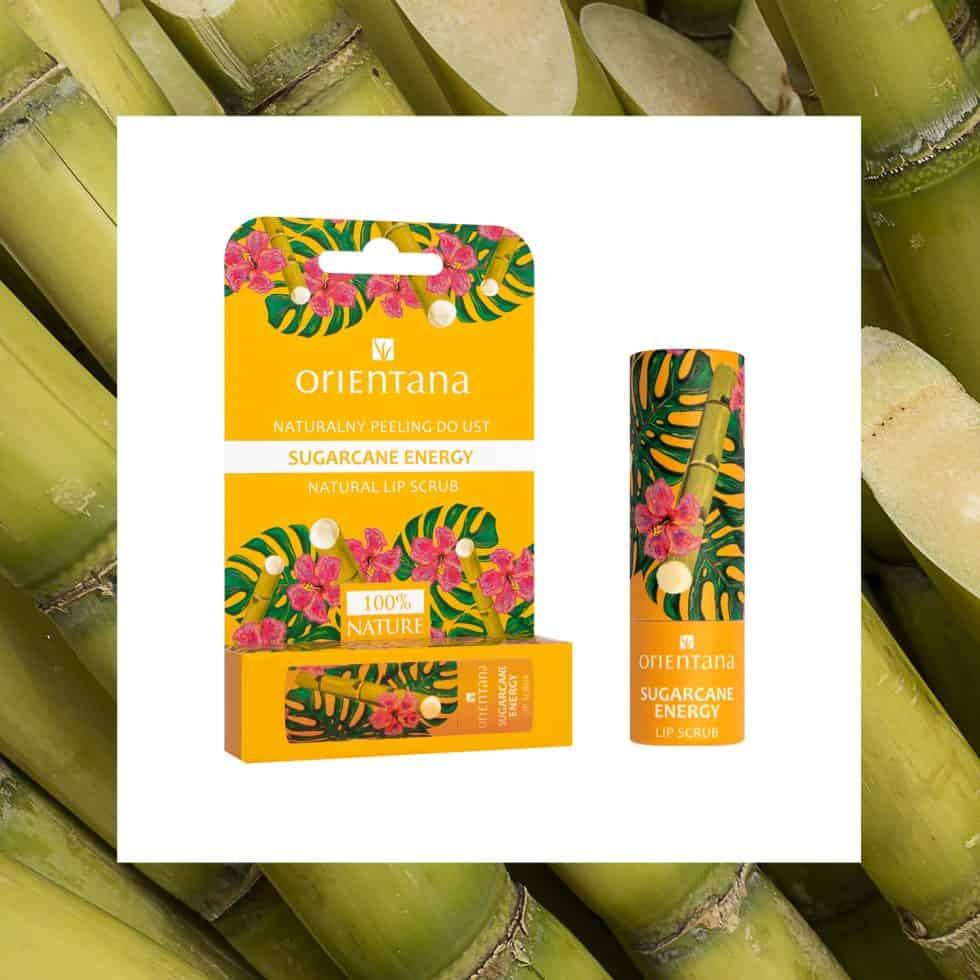 Orientana – Naturalny peeling do ust – Sugarcane Energy