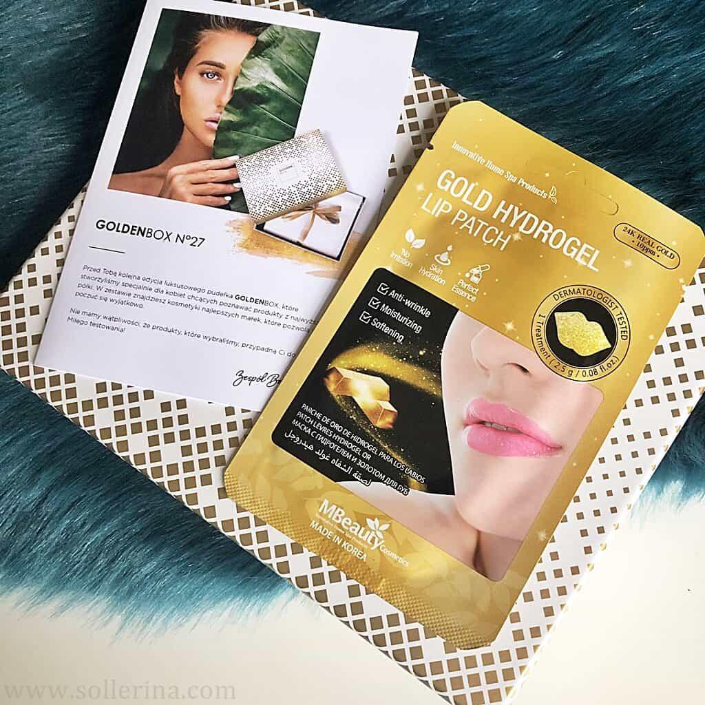 Mbeauty – Gold Hydrogel – nawilżająca maseczka hydrożelowa na usta