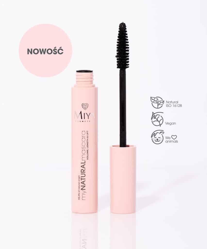 Miya Cosmetics – myNATURALmascara – naturalne wydłużenie, objętość i podkręcenie