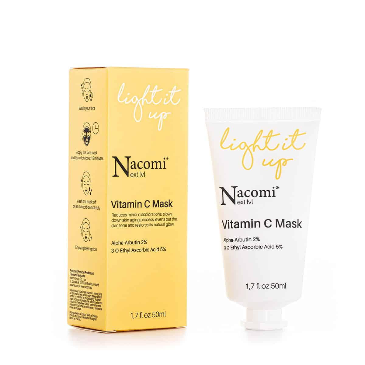 Nacomi Next Level – Light It Up – Rozjaśniająca maska z witaminą C (Fot. Nacomi Next Level)