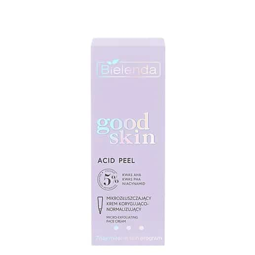 Bielenda – Good Skin – Acid Peel - Mikrozłuszczający krem korygująco-normalizujący - kwasy AHA + PHA, niacynamid (Fot. Bielenda)
