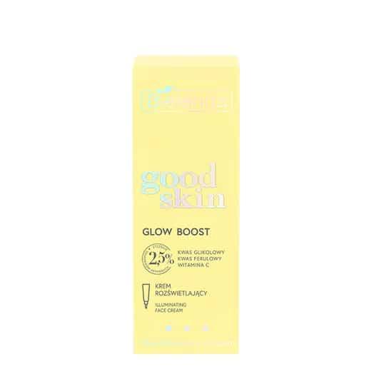 Bielenda – Good Skin – Glow Boost – Krem rozświetlający - kwas glikolowy, witamina C, kwas ferulowy (Fot. Bielenda)
