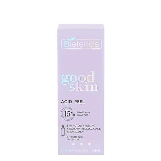 Bielenda – Good Skin – Acid Peel - Peeling kwasowy 5-minutowy złuszczająco-korygujący - kwasy AHA + PHA (Fot. Bielenda)