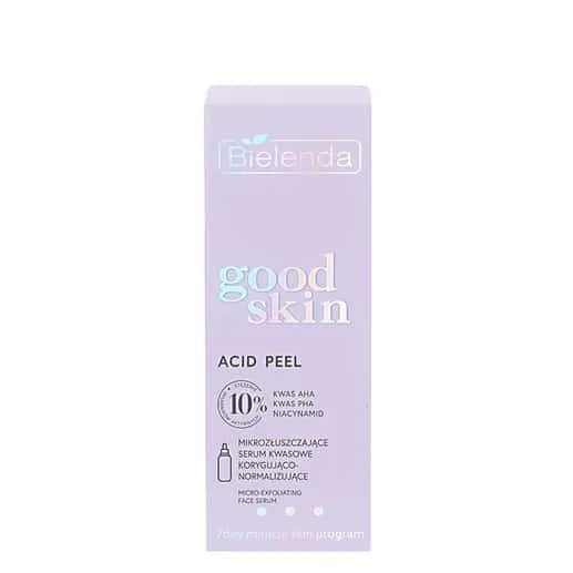 Bielenda – Good Skin – Acid Peel - Mikrozłuszczające serum kwasowe korygująco-normalizujące - kwasy AHA + PHA, niacynamid (Fot. Bielenda)