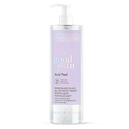 Bielenda – Good Skin – Acid Peel - Mikrozłuszczający żel do mycia twarzy korygująco-normalizujący - kwasy AHA + PHA, niacynamid (Fot. Bielenda)
