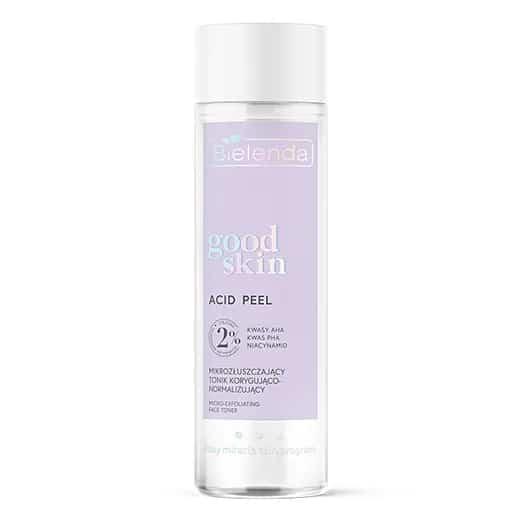 Bielenda – Good Skin – Acid Peel – Mikrozłuszczający tonik korygująco-normalizujący - kwasy AHA + PHA, niacynamid (Fot. Bielenda)